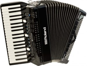אקורדיון דיגיטלי Roland FR-4X בצבע שחור