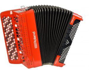 אקורדיון כפתורים Roland FR-4XB בצבע אדום