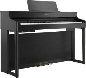 פסנתר חשמלי בצבע שחור Roland HP702 Charcoal Black