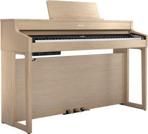 פסנתר חשמלי בצבע חום בהיר Roland HP702 Light Oak