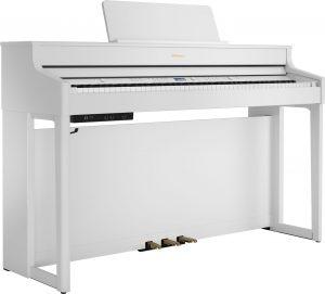 פסנתר חשמלי בצבע לבן Roland HP702