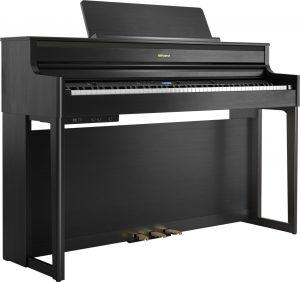 פסנתר חשמלי בצבע שחור Roland HP704 Charcoal Black