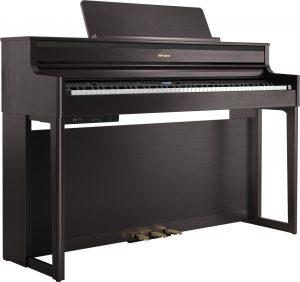 פסנתר חשמלי בצבע חום Roland HP704 Dark Rosewood