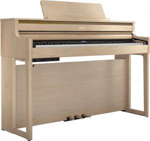 פסנתר חשמלי בצבע חום בהיר Roland HP704 Light Oak