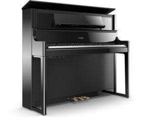 פסנתר חשמלי בצבע שחור מבריק Roland LX708 Polished Ebony