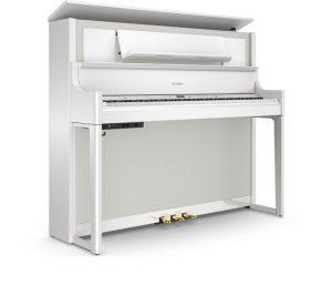 פסנתר חשמלי בצבע לבן מבריק Roland LX708 Polished White