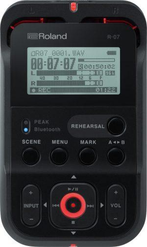 מכשיר הקלטה מקצועי Roland R-07 בצבע שחור