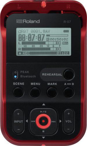 מכשיר הקלטה מקצועי Roland R-07 בצבע אדום