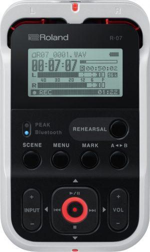 מכשיר הקלטה מקצועי Roland R-07 בצבע לבן