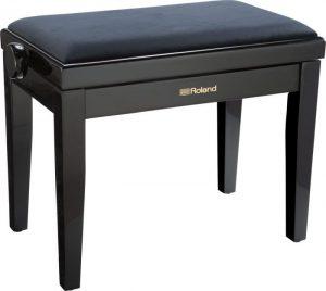 כיסא פסנתר שחור ריפוד קטיפה Roland RPB-220