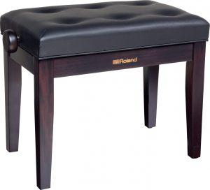 כיסא פסנתר כפול בצבע חום Rosewood וריפוד שחור Roland RPBD-300RW
