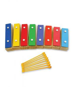 מטלופון חינוכי מתפרק 8 צלילונים צבעוני מתפרק מ דו 3 עד דו 4