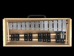 גלוקנשפיל כרומטי 22 צלילים במארז עץ