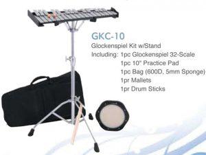 גלוקנשפיל תזמורתי שתי אוקטבות וחצי כולל תיק וסטנד ופד אימון Albert Pro GKC10