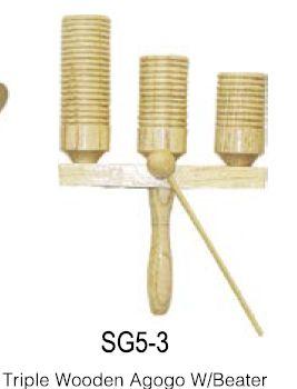 גביע עץ שלושה צלילים כולל מקל תואם Albert Pro SG5-3