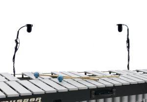 זוג מיקרופונים לקסילופון מרימבה ויברפון עם פראמפ ותפסן AMT VP2 Vibraphone & Marimba