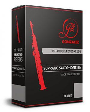 עלים לסקסופון סופרן  מספר 1.5 – 10 בקופסא Gonzalez Classic