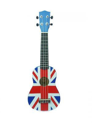 יוקללה סופרן עם גרפיקת דגל בריטניה Aloha UK-300O