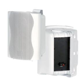זוג רמקולים מוגברים קוטר 5.25 אינצ כולל מתקן לקיר 50w