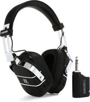 אוזניות אלחוטיות עם הדמיית מגברים ואפקטים BOSS Waza Air