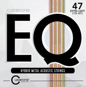 מיתרים לגיטרה אקוסטית Cleartone EQ 10-47