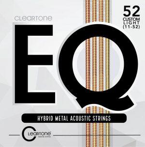 מיתרים לגיטרה אקוסטית Cleartone EQ 11-52