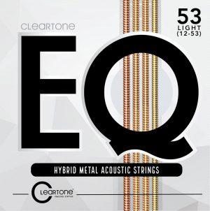 מיתרים לגיטרה אקוסטית Cleartone EQ 12-53