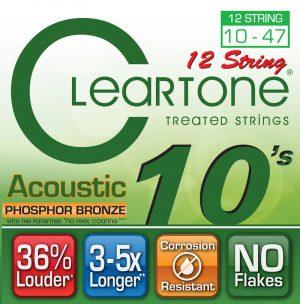 סט מיתרים לגיטרה אקוסטית 12 מיתרים Cleartone 741012 EMP Phosphor Bronze 10-47