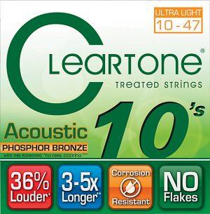 סט מיתרים לגיטרה אקוסטית Cleartone 7410 EMP Phosphor Bronze 10-47