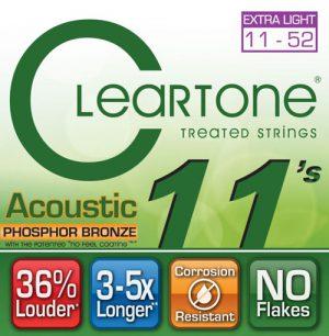 סט מיתרים לגיטרה אקוסטית Cleartone 7411 EMP Phosphor Bronze 11-52