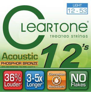 סט מיתרים לגיטרה אקוסטית Cleartone 7412 EMP Phosphor Bronze 12-53