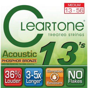 סט מיתרים לגיטרה אקוסטית Cleartone 7413 EMP Phosphor Bronze 13-56