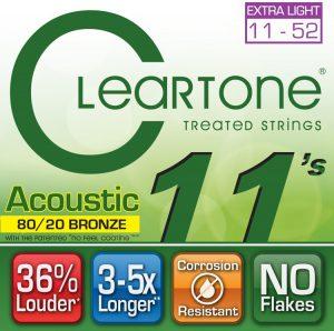 סט מיתרים לגיטרה אקוסטית Cleartone 7611 EMP Bronze 11-52