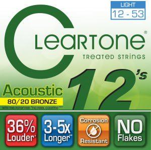 סט מיתרים לגיטרה אקוסטית Cleartone 7612 EMP Bronze 12-53