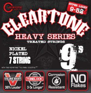 סט מיתרים לגיטרה חשמלית 7 מיתרים Cleartone 9409-7 EMP Nickel Plated 9-52