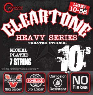סט מיתרים לגיטרה חשמלית 7 מיתרים Cleartone 9410-7 EMP Nickel Plated 10-56