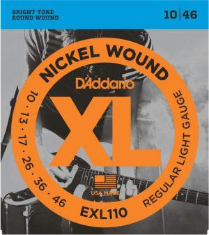 מיתרים לגיטרה חשמלית DAddario EXL110 010-046