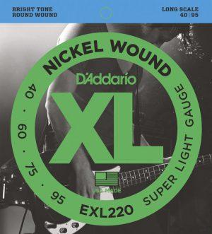 מיתרים לגיטרה בס DAddario EXL220 040-095