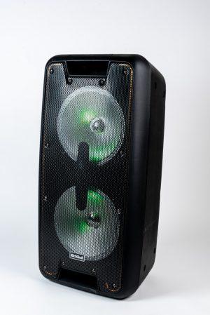 בידורית ניידת שני מיקרופונים אלחוטים ידני Steelerd 10×2 80w