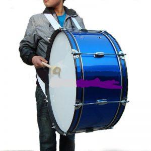 תוף מצעד בס 24 כחול fleet percussion MD2410BL