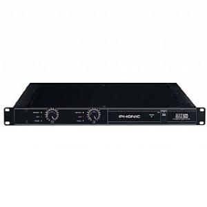 מגבר PHONIC MAX500 2 x 120 W RMS 4 ohm