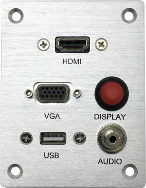פנל חיבורים ומפסק הפעלה (ללא ספק) VGA , AUDIO ,HDMI