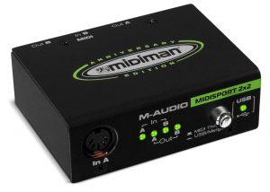 ממשק מידי M-Audio MIDISPORT2X2