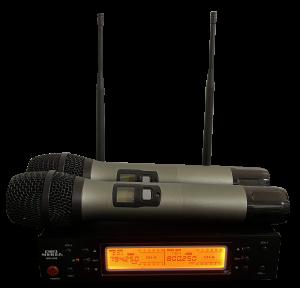 מיקרופון אלחוטי 2 ידניים כולל ארגז נשיאה Meres MR-U56