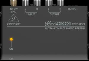 פראמפ קומפקטי לפטיפון Behringer PP400 Preamp