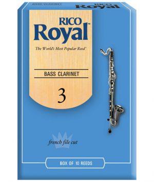 עלים לקלרינט בס מס 3 – 10 בקופסא Rico Royal