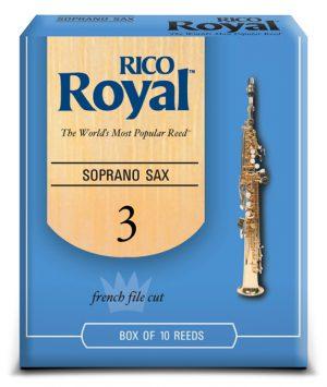 עלים לסקסופון סופרן מס 3 – 10 בקופסא Rico Royal
