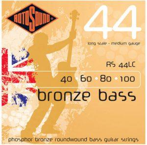 מיתרים לגיטרה בס אקוסטית RotoSound RS44LC 040-100