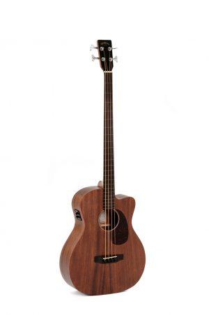 גיטרה בס אקוסטית פרטלס מוגברת SIGMA BMC-15FE CUTAWAY Mahogany