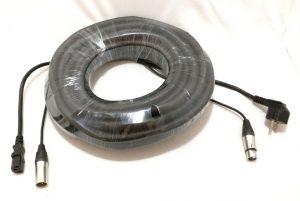 כבל XLR זכר ל- XLR נקבה משולב כבל מתח באורך 15 מטר תוצרת Steelerd